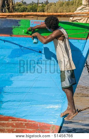 Malagasy Man Painting