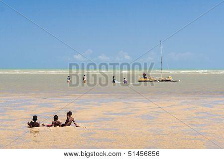 Scene Of Life In The Lagoon