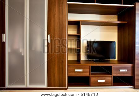 Modern Bookcase And Wardrobe
