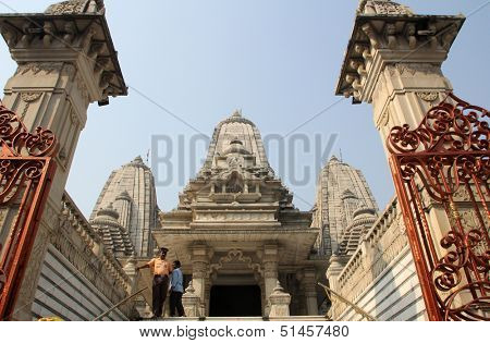 KOLKATA, INDIA - NOV 30: Birla Mandir (Hindu Temple) in Kolkata, West Bengal in India as seen on Nov 30, 2012. It is one of the largest Hindu temples in Kolkata.