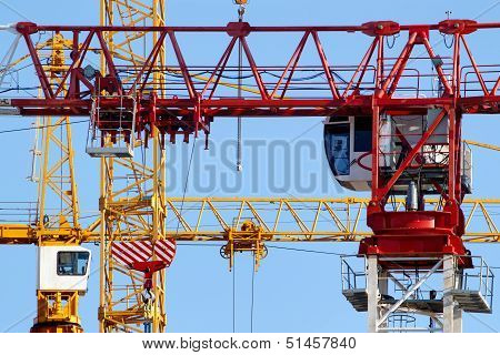 Tower crane closeup