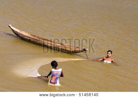 Malagasy People Fishing