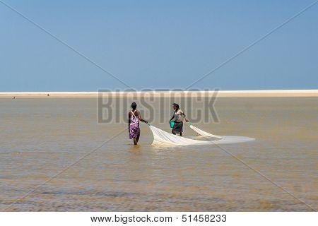 Malagasy Women Fishing