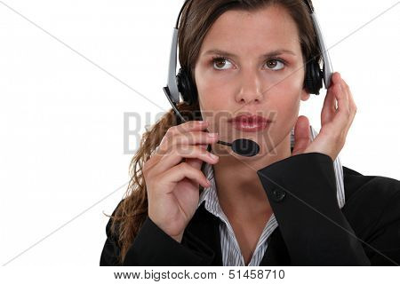 Young woman telemarketer