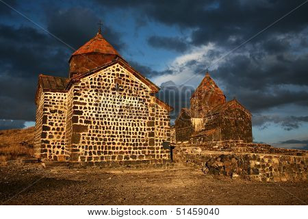 Old Small Stone Church In Armenia