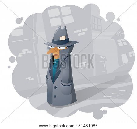 Spy agent, illustration