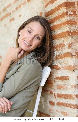Beautiful woman relaxing on week-end