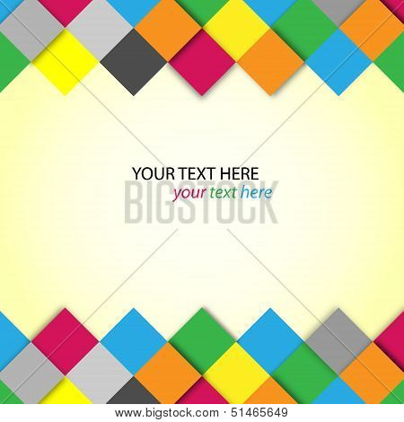 Abstract colorful blocks with place for text