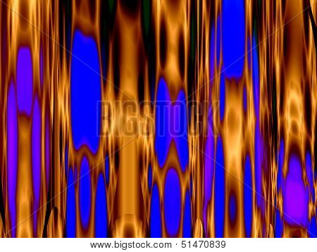 Abstract Dynamic Blue  Yellow Background
