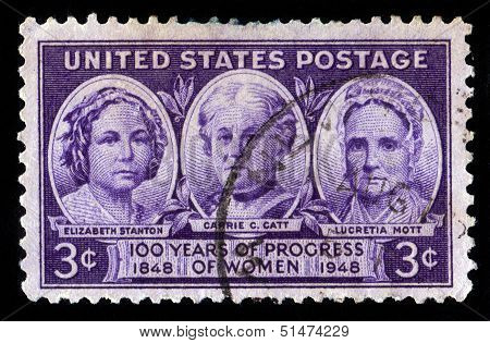 Elisabeth Stanton, Carrie Catt And Lucretia Mott