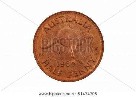 Old Australian Half Penny