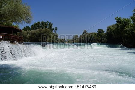 Manavgat Waterfall On The Manavgat River