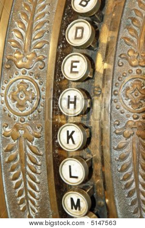 Cash Register Alphabet Buttons