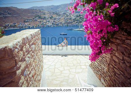 Woman in Symi (Simi) island, Greece