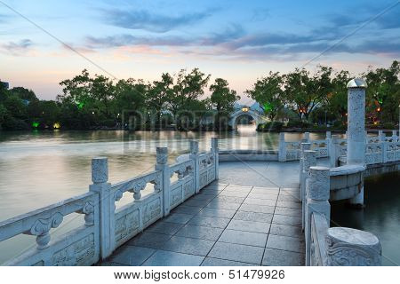 Banyan Lake At Dusk