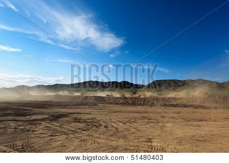 Construction Site And Dust