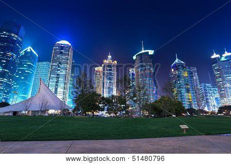 Night Shanghai In Park