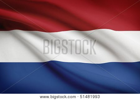 Series Of Ruffled Flags. Netherlands.
