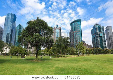 City Greenbelt Park In Shanghai