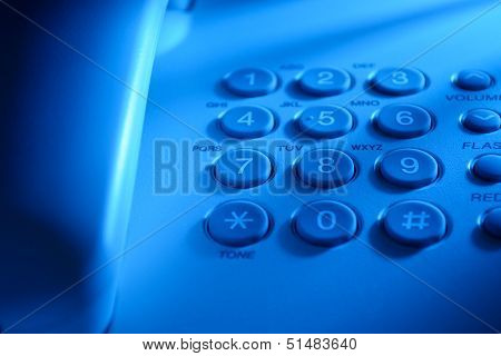 Keypad On A Landline Telephone