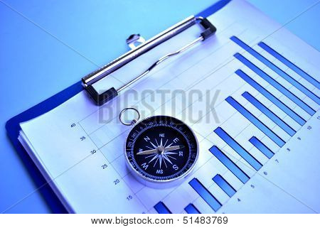 Magnetic Compass On A Graph