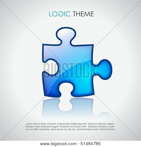 Vector puzzle, logic theme design