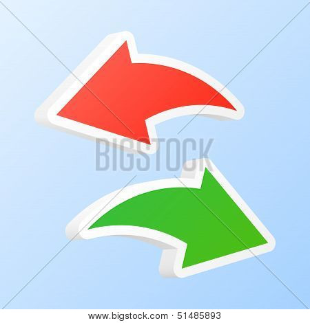 Undo And Redo Arrows. Vector Illustration