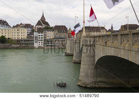 Mittlere Brucke Bridge, Basel