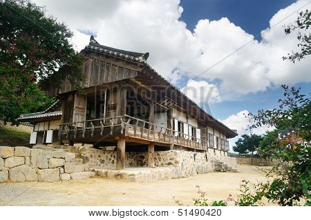 Gwangajeong, Korean Traditional House In Yangdong Village, Gyeongju, Korea