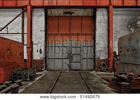 Industrial Door Of A Factory