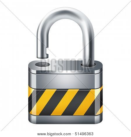 Open padlock icon 10eps