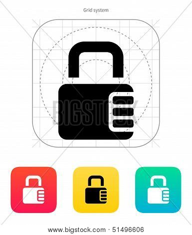 Lock with password icon.