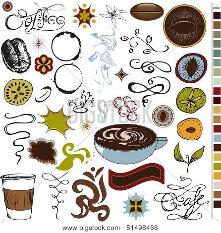 Coffee and cafe icons and graphics