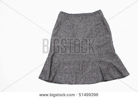 A Gray Skirt