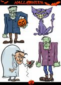 picture of frankenstein  - Cartoon Illustration of Halloween Holiday Themes like Evil Scientist or Zombie or Frankenstein - JPG