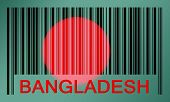stock photo of bangladesh  - Flag of Bangladesh painted on barcode surface - JPG