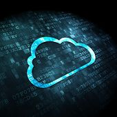 stock photo of pixel  - Cloud computing concept - JPG