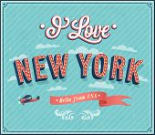 Vintage Greeting Card From New York - Usa. poster