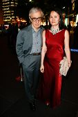 NEW YORK-SEP 24: Woody Allen and Soon Yi Previn attend HUGO BOSS celebrates Columbus Circle BOSS fla