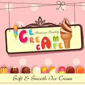 pic of ice cream parlor  - vector illustration of Ice cream Poster design - JPG
