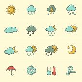 pic of windy weather  - weather icons - JPG