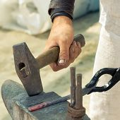 stock photo of blacksmith shop  - Close - JPG