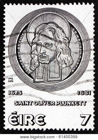 Postage Stamp Ireland 1975 St. Oliver Plunkett