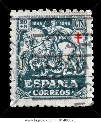 Old Spanish postage stamp