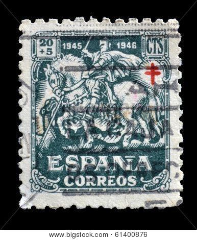 Old Spanish postage stamp