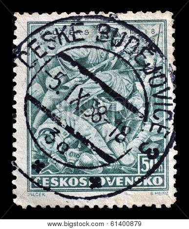 Old Czechoslovakia postage stamp