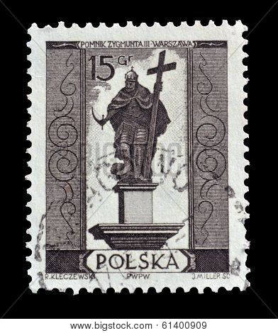 Old Polish postage stamp 1955