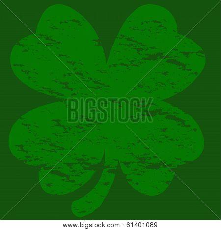 Grunge Four-leaf Clover