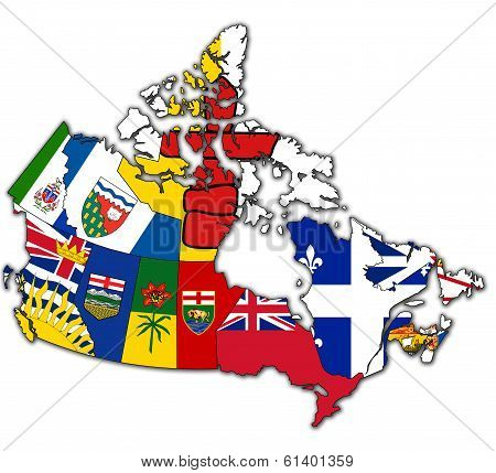 Administration Map Of Canada
