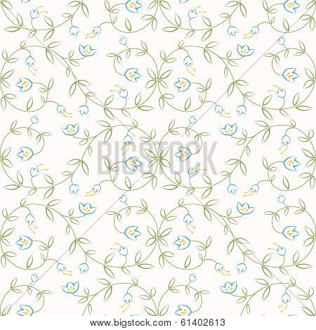 Easy Flowers Seamless